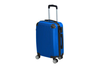 "24"" Cabin Luggage Suitcase Code Lock Hard Shell Travel Case Carry On Bag Trolley  -  Blue"