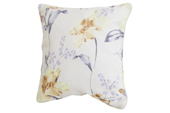 Emma Barclay Alexis Floral Design Cushion Cover (Cushion Pad Not Included) (Lemon)