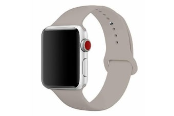 Apple Watch iWatch Series 1 2 3 4 5 Silicone Replacement Strap Band 38mm/40mm S/M size-Stone White