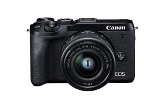 Canon EOS M6 Mark II Camera with 4K Video and EF-M 15-45mm Zoom Lens