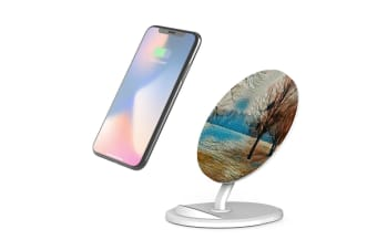 QI Wireless Charger For iPhone 11 Samsung Galaxy S20+ S20 Ultra S10+ Landscape