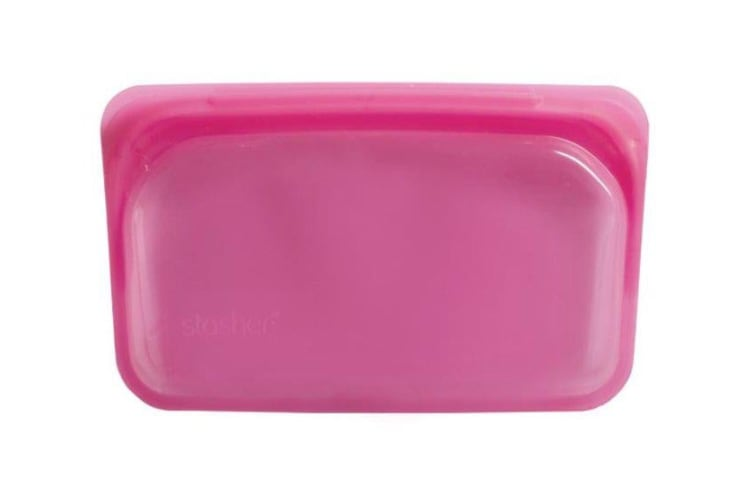 Stasher Silicone Bag Rectangle Raspberry 300ml