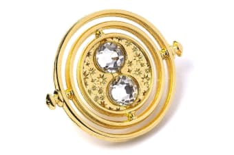 Harry Potter Official Time Turner Badge (Gold) (One Size)