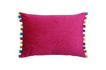 Paoletti Fiesta Rectangle Cushion Cover (Hot Pink/Multi)