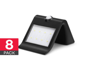 V-Shape Solar Motion Sensor Light (8 Pack)