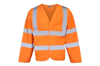 RTY High Visibility Unisex High Vis Motorway Coat (Pack of 2) (Fluorescent Orange)