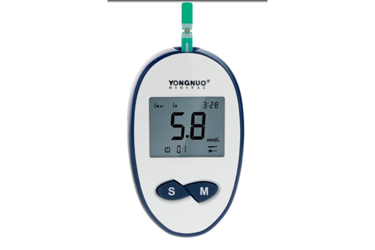 Glucose Monitor Kit,Smart Exactive Diabetes Testing Kit,Sterile Lancets Quick Sincere One Touch Blood Glucose Monitor