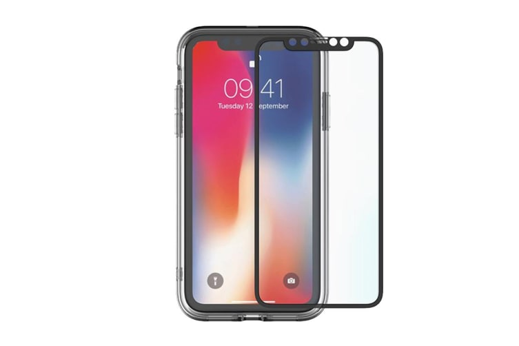 Cygnett 360° Bundle Glass Front/Back Screen Protector with Bumper for iPhone Xs (CY2624BNSPB)