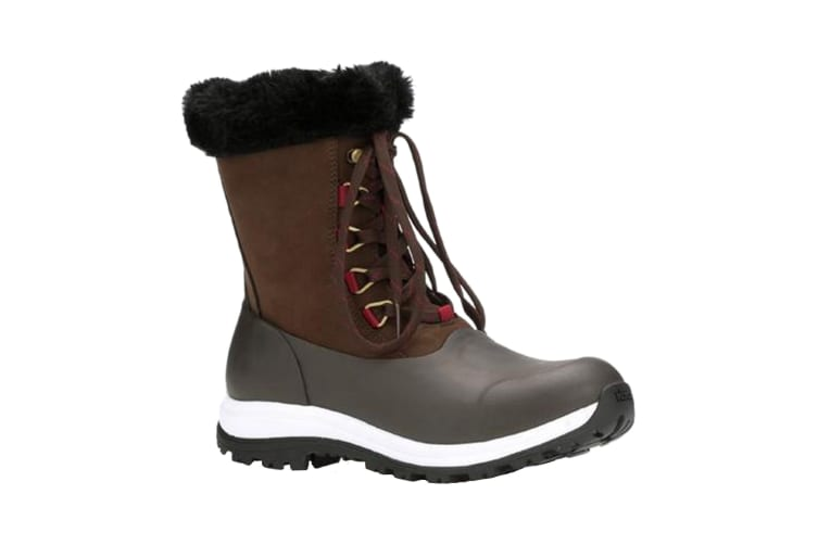 Muck Boots Womens/Ladies Apres Leather Lace Up Mid Boot (Brown) (5 UK)