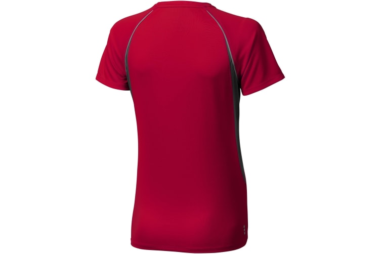 Elevate Womens/Ladies Quebec Short Sleeve T-Shirt (Red/Anthracite) (L)