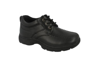 Cool For School Boys  Lace Up School Shoes (Black)