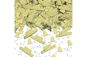 Amscan Golden Anniversary Confetti (Gold) (One Size)