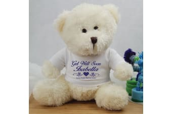 Personalised Get-Well Teddy Bear - Andy Cream