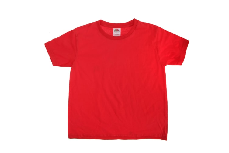 Fruit Of The Loom Kids Sofspun Short Sleeve T-Shirt (Pack of 2) (Red) (3-4)