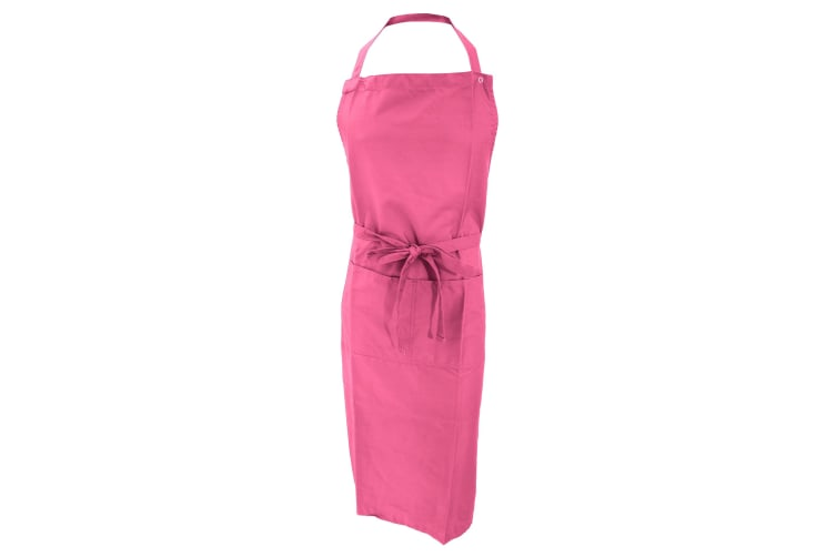 Jassz Bistro Unisex Bib Apron With Pocket / Barwear (Pack of 2) (Pink) (One Size)