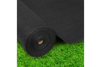Instahut 90% Sun Shade Cloth Cloths 195GSM Sail Roll Mesh Outdoor Black 1.83m x 10m Summer UV Protection