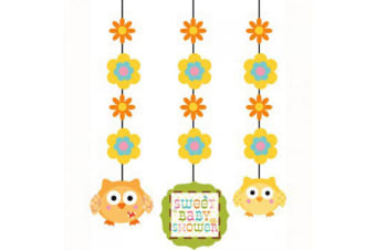 Creative Converting Happi Tree Baby Shower Decorations (Pack of 3) (Multicoloured) (One Size)