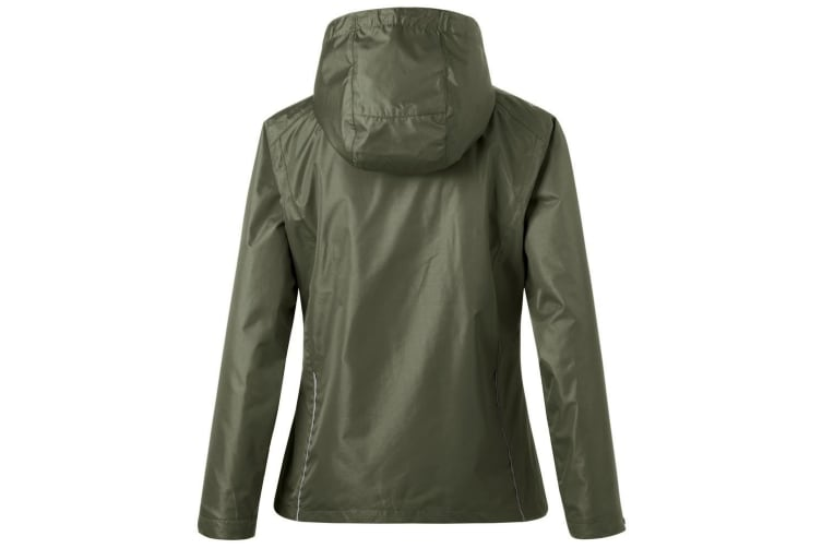 James and Nicholson Womens/Ladies 3-in-1 Jacket (Olive Green/Black) (XL)