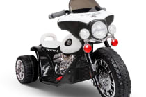Kids Ride on Police Motorbike (Black/White)