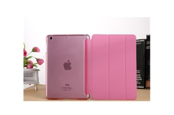 Premium Leather Business Slim Folding Stand Folio Cover For Ipad Pink Mini4