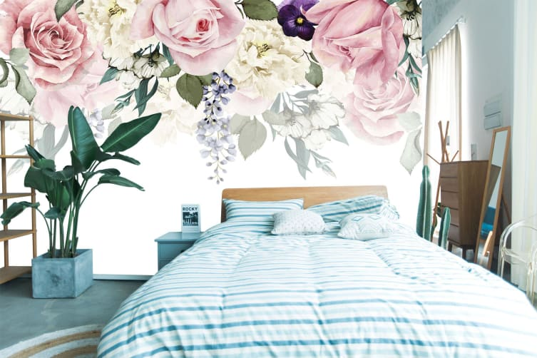 3D Small Fresh Flower 158 Wall Murals Self-adhesive Vinyl, XXXL 416cm x 254cm (WxH)(164''x100'')