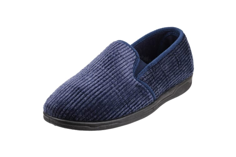 Cotswold Mens Richard Closed Back Slippers (Navy) (10 UK)