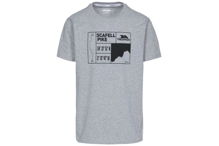Trespass Mens Scafel T-Shirt (Grey Marl) (L)