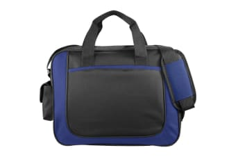 Bullet The Dolphin Business Briefcase (Solid Black/Royal Blue) (38.1 x 7 x 29.2cm)