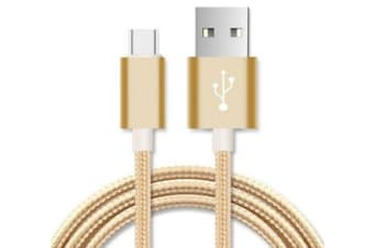 Astrotek 2m Micro Usb Data Sync Charger Cable Cord Gold Color For Samsung Htc
