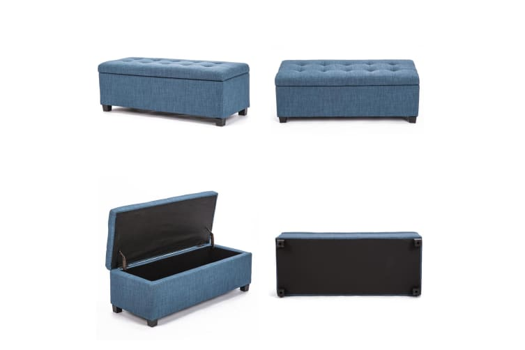 Storage Ottoman Fabric - NAVY GREY