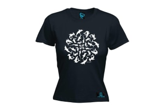 Open Water Scuba Diving Tee - Circle Of Life - Black Womens T Shirt
