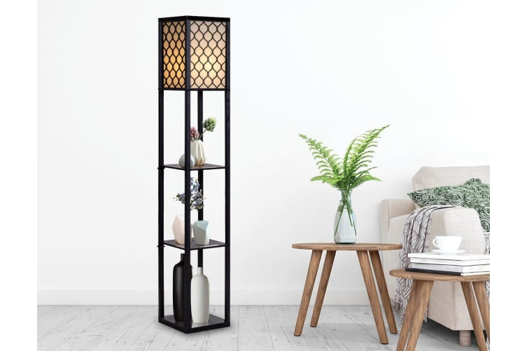 Shelf Floor Lamp - Shade Diffused Light Source with Open-Box Shelves