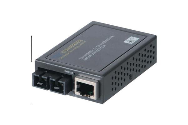 CTS Compact Fast Ethernet Media     Converter 10/100Base-TX RJ45 to 100Base-FX SC Single-Mode