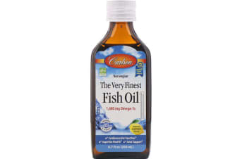 Carlson Labs Norwegian - The Very Finest Fish Oil Natural Lemon Flavour - 1,600mg, 200ml