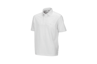 Result Mens Work-Guard Apex Short Sleeve Polo Shirt (White) (S)