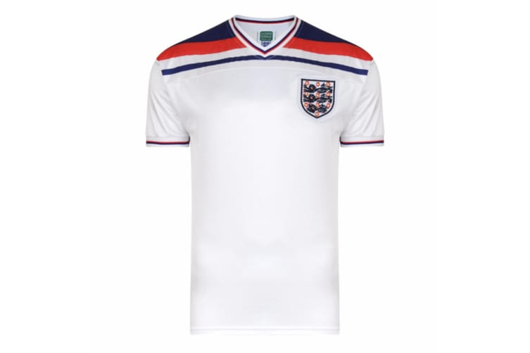 England FA Mens Official 1982 World Cup Final T-Shirt (White) (XL)