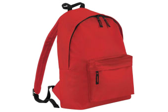 Beechfield Childrens Junior Fashion Backpack Bags / Rucksack / School (Bright Red) (One Size)