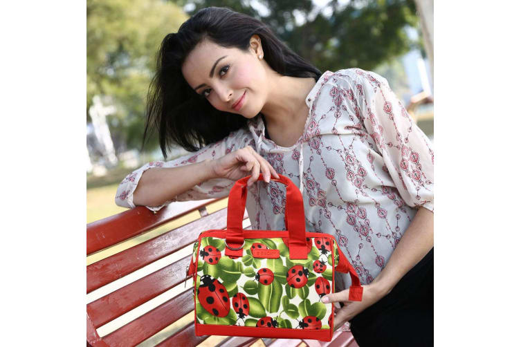 2x Sachi Thermal Insulated Picnic Lunch Meal Box Bag Carry Food Storage Lady Bug