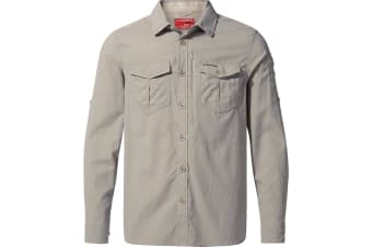 Craghoppers Mens NosiLife Adventure II Long Sleeved Shirt (Parchment)