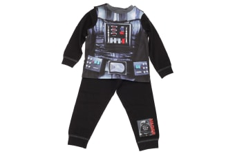 Star Wars Childrens Boys Darth Vader Design Pyjama Set (Black)