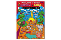 Maze Find and Colour Book - Animals & Birds