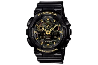 353c496e5 Casio G-Shock Camouflage Ana-Digital Watch - Black/Gold (GA100CF-1A9 ...
