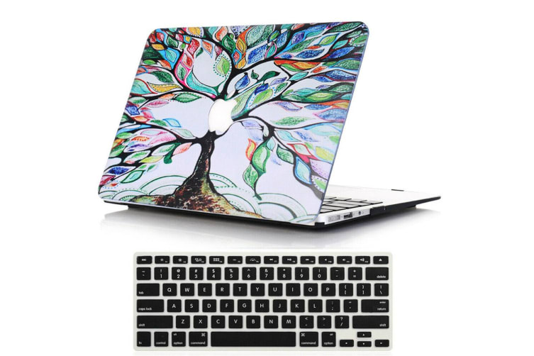 "Marble Frosted Matte Hard Case with Free Keyboard Cover for MacBook Pro 13"" 2016-2018 A1706 A1989 (With Touch Bar)-Life Tree"