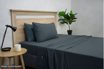 Apartmento Micro Flannel Sheet Set (Navy/Queen)