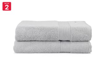 Onkaparinga Ultimate 100% Turkish Cotton Bath Sheet Set of 2 (Silver)