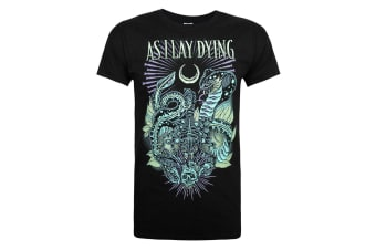 As I Lay Dying Official Mens Cobra T-Shirt (Black) (S)
