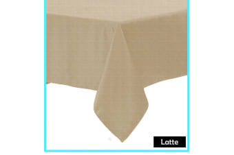 Polyester Cotton Tablecloth Latte 180 x 310 cm