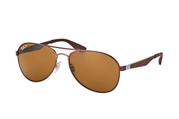 Ray-Ban RB3549 - Matte Brown (Brown Polarised lens) / 58--16--145 Unisex Sunglasses