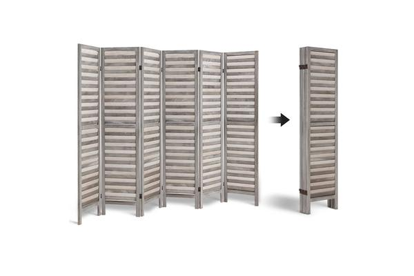 Artiss 6 Panel Room Divider Screen Bed Privacy Wood Foldable Stand Timber (Grey)