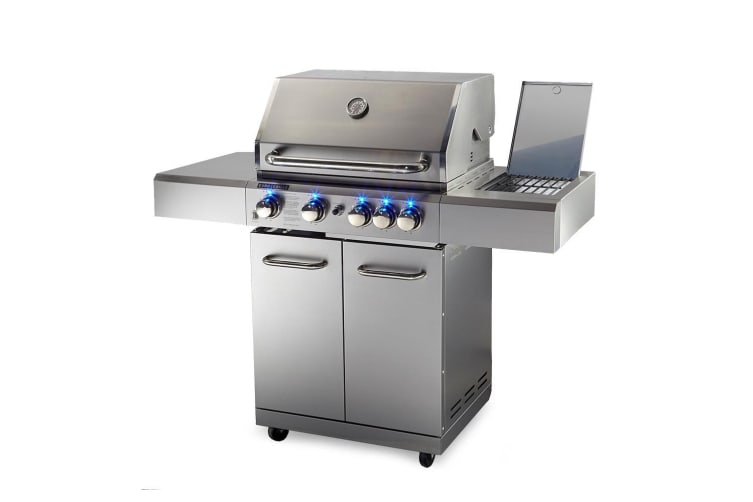 EuroGrille 5 Burner BBQ Outdoor Barbeque Grill Gas Stainless Steel Kitchen
